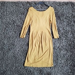 Halston Heritage mustard dress